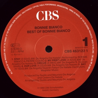 BEST OF BONNIE BIANCO