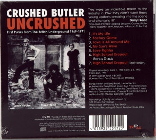 UNCRUSHED: PREVIOUSLY UNRELEASED BRITISH PUNK FROM THE UNDERGROUND 1969-1971