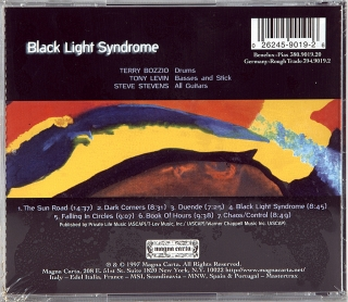 BLACK LIGHT SYNDROME