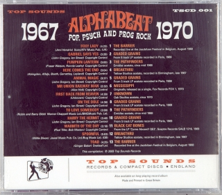 ALPHABEAT (POP, PSYCH AND PROG ROCK 1967-1970)