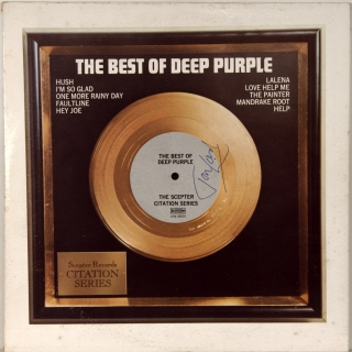 BEST OF DEEP PURPLE (SIGNED -JON LORD)