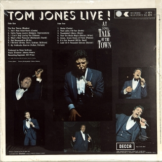 TOM JONES LIVE! AT THE TALK OF THE TOWN