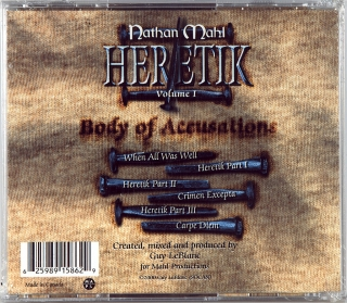 HERETIK VOLUME I: BODY OF ACCUSATIONS