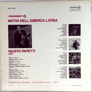 I REMEMBER NO. 5 - MOTIVI DELL'AMERICA LATINA